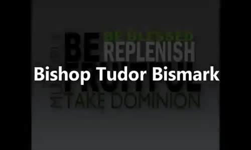 Bishop Tudor Bismark Be Fruitful Multiply Replenish and Take Dominion!(1)