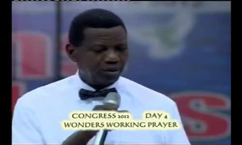 Working Prayer by Pastor E A Adeboye- RCCG Redemption Camp-Lagos Nigeria
