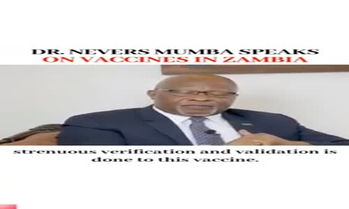 Dr Nevers Mumba-Zambian Politician and Religious Minister speaks on vaccines in Zambia.mp4
