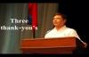 Three thank yous by Pastor Ed Lapiz