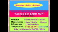 Connais Son SAINT NOM, exhortation Pasteur Sylvain-Gamaliel, Conférence 30 septe.mp4