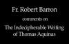 Fr. Robert Barron on Thomas Aquinas' Writing.flv