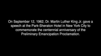 Dr. Martin Luther King, Jr.s 1962 Speech in NYC