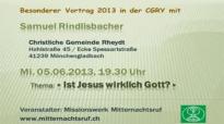 Samuel Rindlisbacher - Ist Jesus wirklich Gott.flv