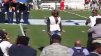 Le'Andria Johnson sings National Anthem @ JSU Homecoming 10.20.12.flv
