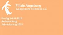 Predigt 04.01.2015 Andreas Karg - Jahreslosung 2015.flv