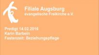 Predigt 14.02.2016 Karin Barbeln - Fastenzeit_ Beziehungspflege.flv