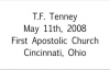 T.F. Tenney Dont Quit May 11th, 2008  FULL LENGTH MESSAGE