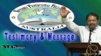 Malayalam Christian Testimony Pr V A Thampy.flv