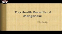 Top Health Benefits of Manganese Inflammation and Sprains