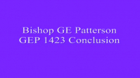 Bishop GE Patterson GEP 1423 Conclusion
