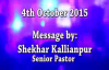 Faith that moves mountains. - SK Ministries - Speaker - Senior Pastor Shekhar Kallianpur.flv