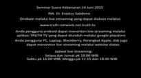 Pdt. Dr. Erastus Sabdono  Seminar Suara Kebenaran 14 Juni 2015