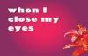 Jessica Reedy When I Close My Eyes lyrics.flv