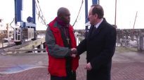 The Archbishop of York Dr John Sentamu visits Bridlington harbour.mp4