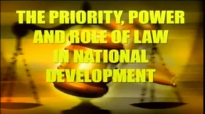 Dr Myles Munroe   The Priority, Power and Role of Law in National Development -
