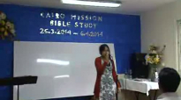 Cairo Mission - Bible Study (Rev.San toe- 26_3_2014) Part 1.flv