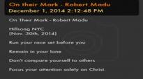 On their Mark  Robert Madu