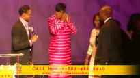 Manasseh Jordan's Father begins to Prophecy over him (Bishop Jordan).flv
