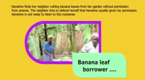 The banana leaf borrower. Kansiime Anne. African comedy.mp4