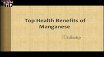 Top Health Benefits of Manganese Metabolism