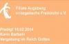 Predigt 16.02.2014 Karin Barbeln - Vergebung im Reich Gottes.flv