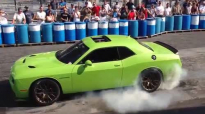 Ralph Gilles burnout with the 707hp Dodge Challenger SRT Hellcat at the Carlisle Chrysler Nationals!.mp4