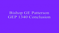 Bishop GE Patterson GEP 1340 Conclusion