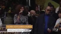 Yolanda Adams, Stevie Wonder, and Kristle Murden at Pastor Andrae Crouch Homegoing Celebration