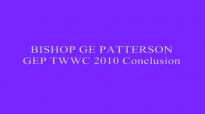 BISHOP GE PATTERSON GEP TWWC 2010 Conclusion