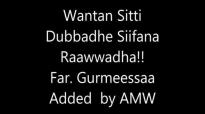 Waantan Sitti Dubbadhe Siifan Raawwadha Malee Sin Gatu! Gurmeessaa T.mp4