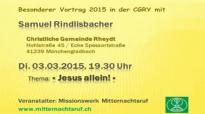 Samuel Rindlisbacher - Jesus allein!.flv