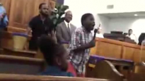 Boy singing with the anointing