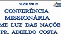 Pr. Adeildo Costa  Fostes fiel no pouco, no muito te colocarei